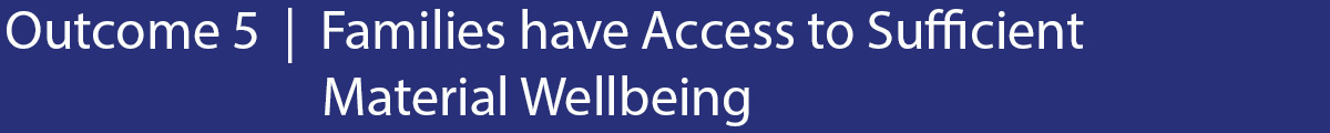 Outcome 5 Families have access to sufficient material wellbeing