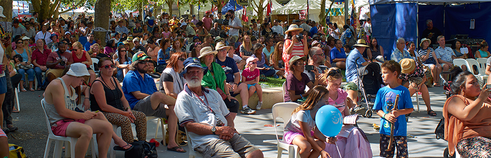 People sitting at the Multicultural festival