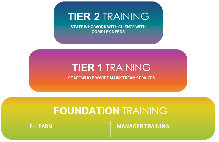 Tier structure for training