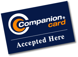 Companion Card Accepted here