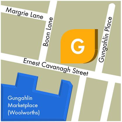 Gungahlin Map