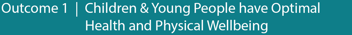 Outcome 1 Children and young people have optimal health and physical wellbeing