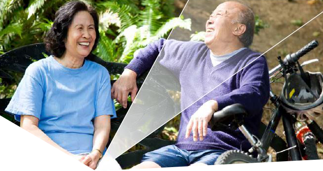 Photo of a carer with the disability person